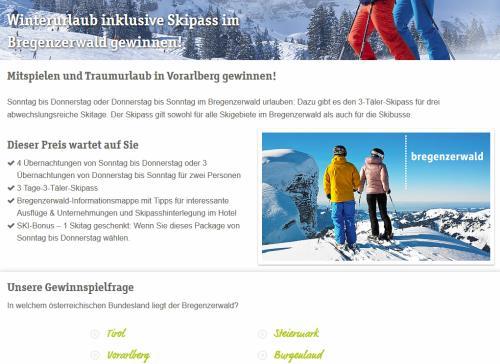 TISCOVER Bregenzer Wald Gewinnspiel