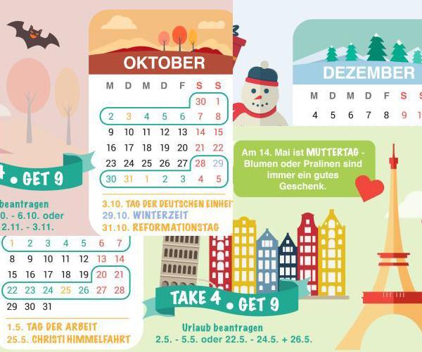 Urlaubsplanung Brückentage 2017