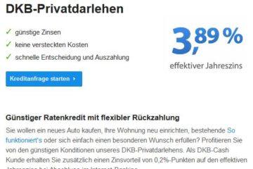DKB Reisekredit beantragen