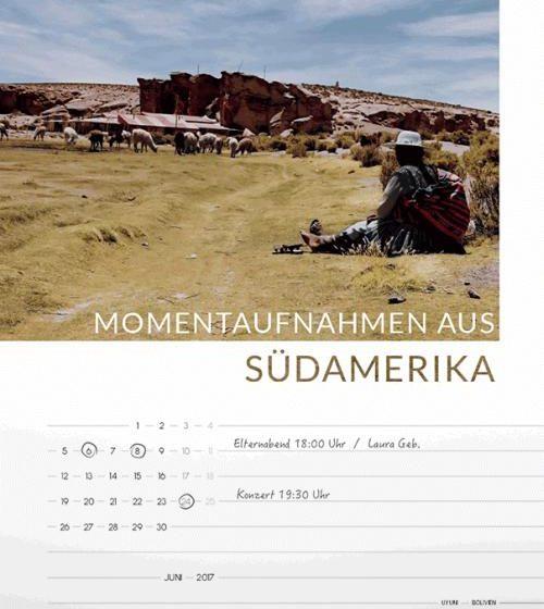 Kalender Südamerika Momente 2017