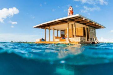 Mitten im Meer - das schwimmende Hotel von Tansania