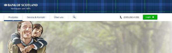 Bank of Scotland Reisekredit