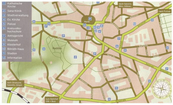 Bergen Rügen Tourismus Karte