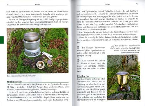 Aufbau des Buches Outdoor Ausrüstung II