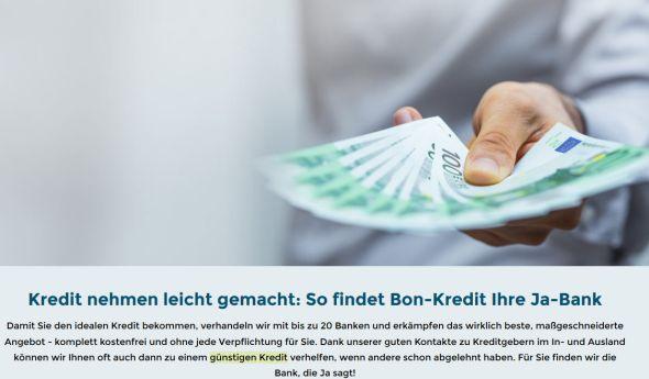 Bon-Kredit Reisekredit Kosten