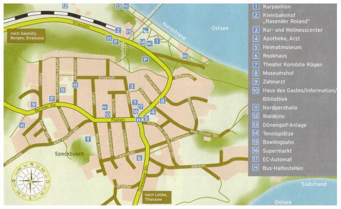 Göhren Rügen Tourismus Karte