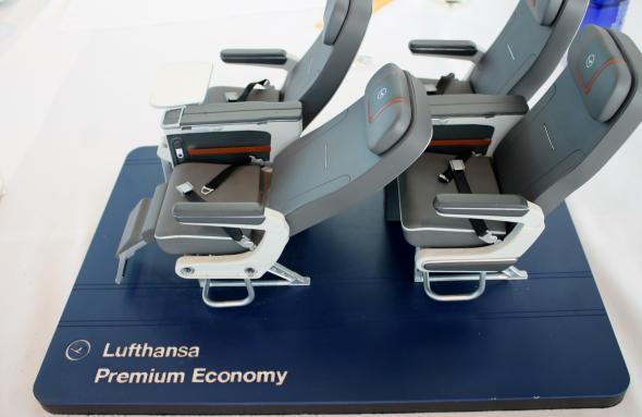 Sitze in der Lufthansa Premium Economy Class