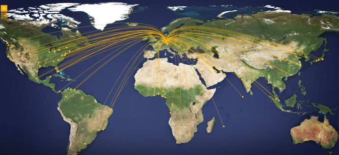 Lufthansa Economy Strecken