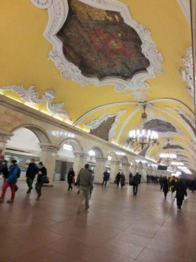 Für mich eine der schönsten Metro-Stationen Moskaus