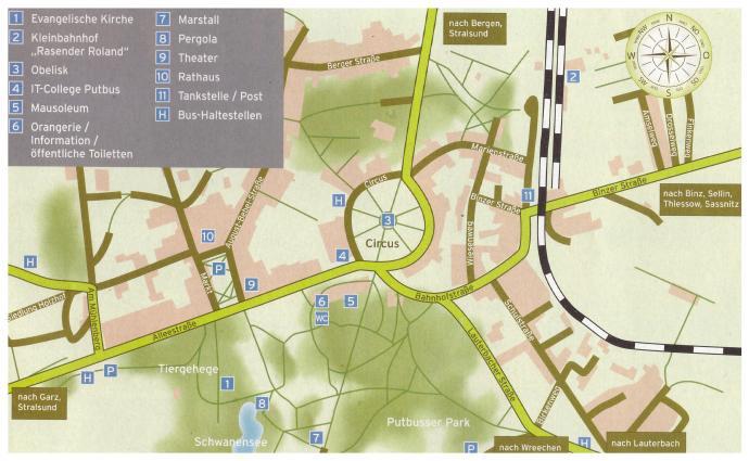 Putbus Rügen Tourismus Karte