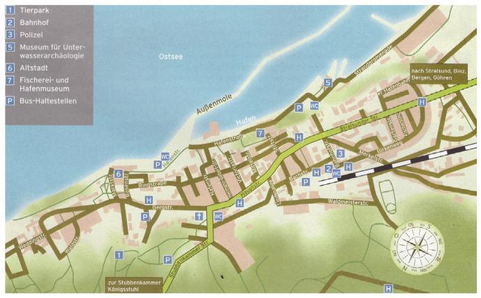 Sassnitz Rügen Tourismus Karte