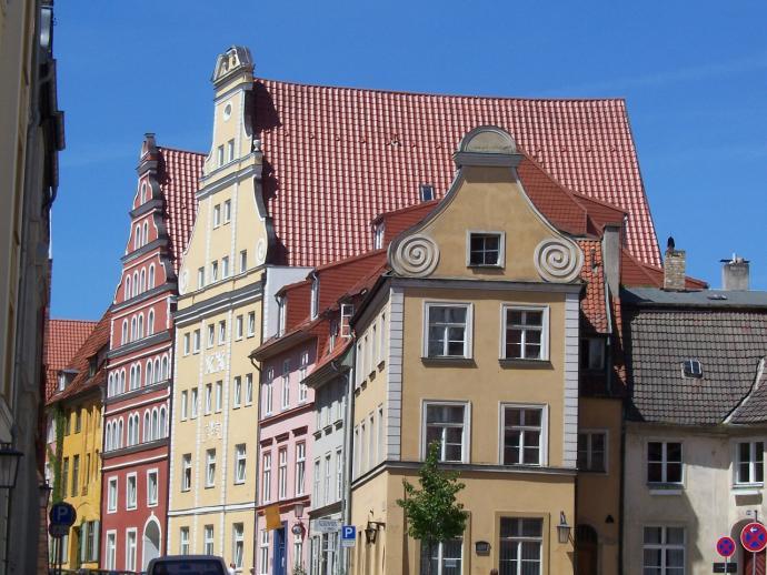 Stralsund Giebelhäuser