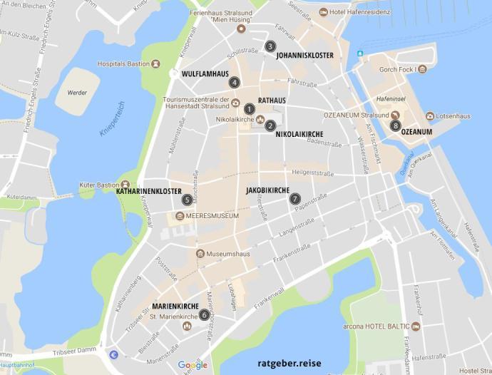 Stralsund Karte.Hansestadt Stralsund Das Können Urlauber Erleben