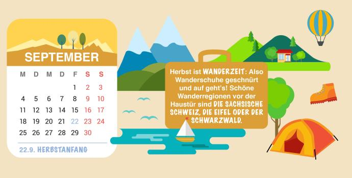 Brückentage 2017 Urlaub September