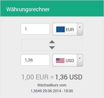 kostenloser Währungsrechner Reise